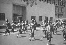 Shriners parade In front of United Broadcasting Studio